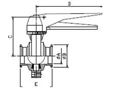 Clamp Sanitary Butterfly Valves